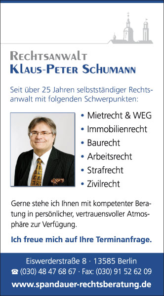 Klaus Peter Schumann Berlin Spandau Mein Trauerfall