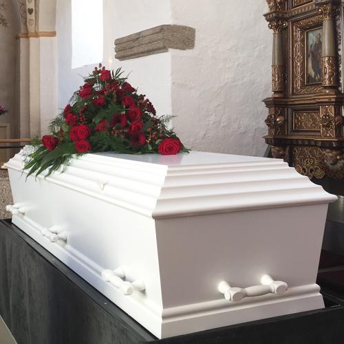 Sargdesign und Urnendesign – Angehörige und Freunde können Sarg und Urne bemalen als Teil der Abschiedszeremonie